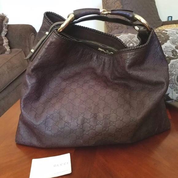3807cd40c3c750 Gucci Handbags - Gucci Guccissima Large Leather Hobo Handbag